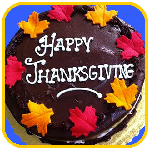 Chocolate Happy Thanksgiving - The Office Cake Delivery Miami - Cakes