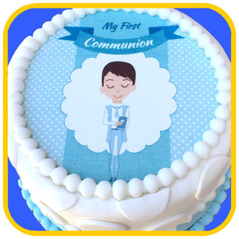 First Communion Boy - The Office Cake Delivery Miami - Cakes
