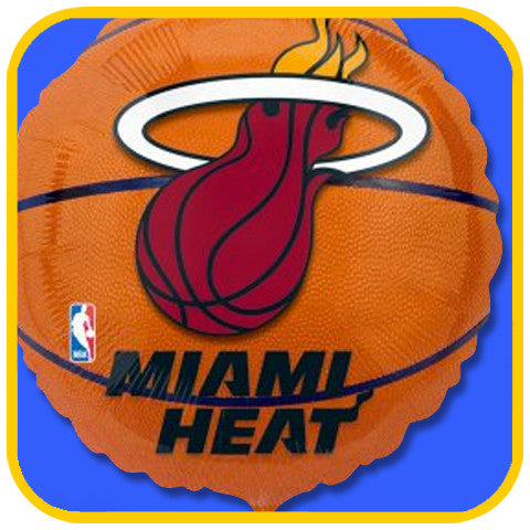 Miami Heat Balloon - The Office Cake Delivery Miami - Balloons
