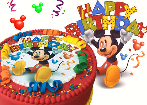 The Mickey Mouse Cake Fondant