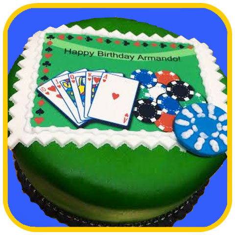Casino Cake - The Office Cake Delivery Miami - Cakes