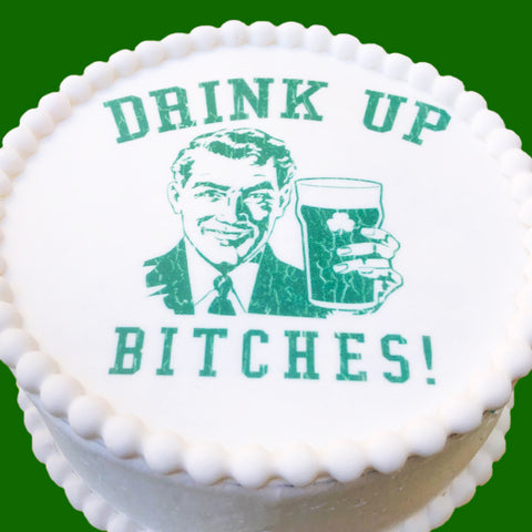 St. Patricks Drink Up Cake