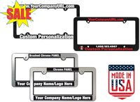 custom printed license plate frames