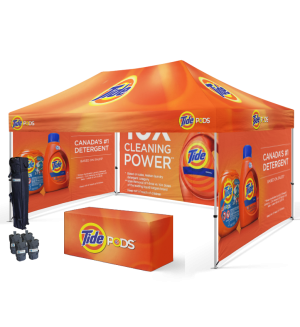 Custom Printed 10'x15' Tent With Walls + Table Cover Bundle