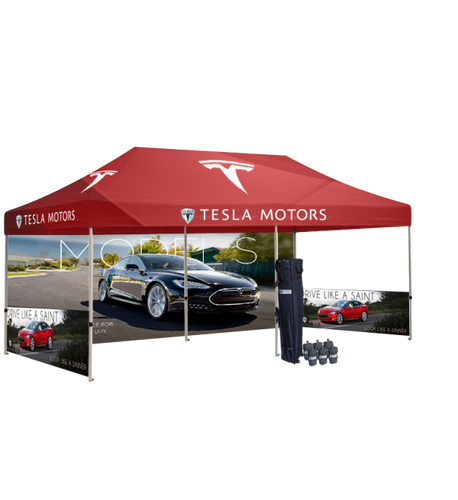tesla motors tents