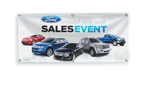 Large car dealership banners
