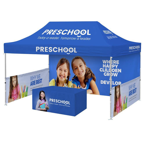 Custom Printed 10x15 Tent + Table Cover Bundle