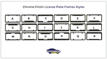 Load image into Gallery viewer, chrome license plate frames style