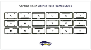 chrome license plate frames style