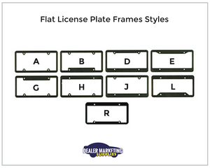 Multi Color Plastic License Plate Frames in 2 or More Colors