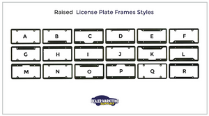 Raised Letters License Plate Frames