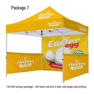 Custom Printed 10x10 Tent With Walls