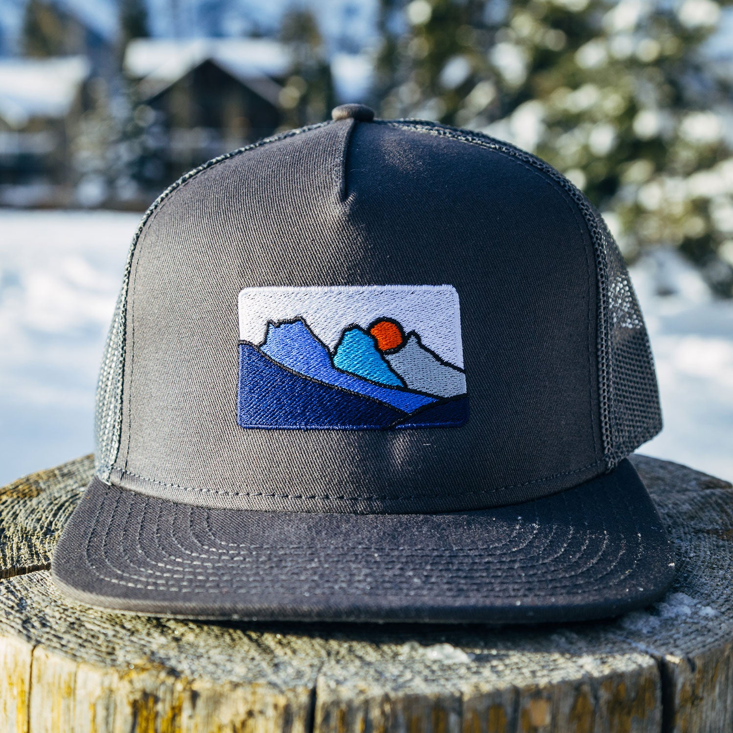 Canmore Three Sisters Mountains - Mesh Snapback