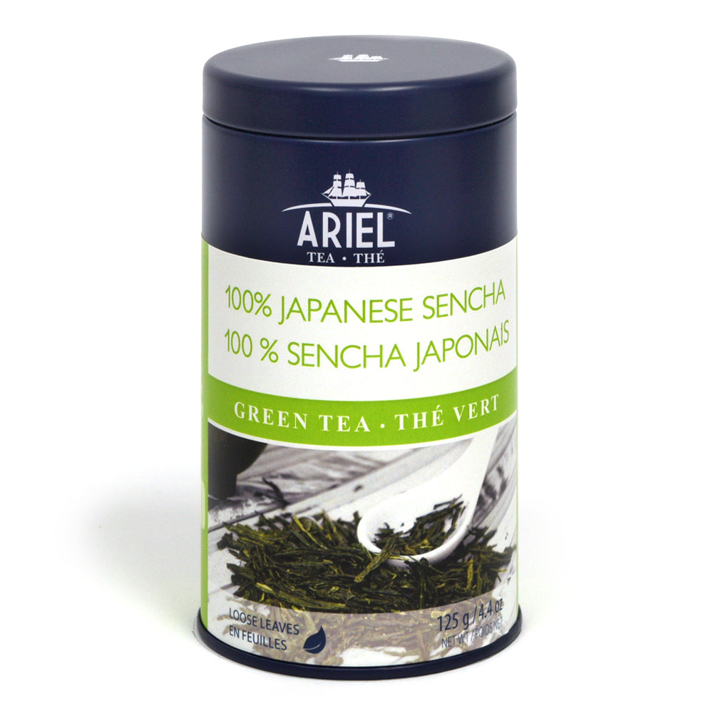 Green tea 100% Sencha Japanese leaf, metal box