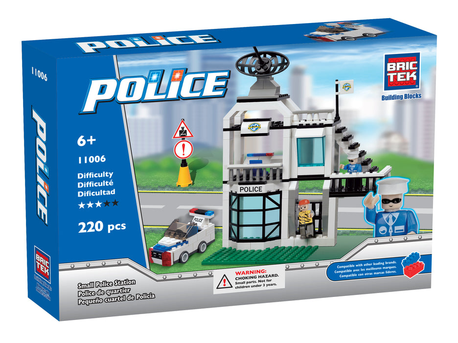 """Brictek"" set of blocks Police - Police Station"