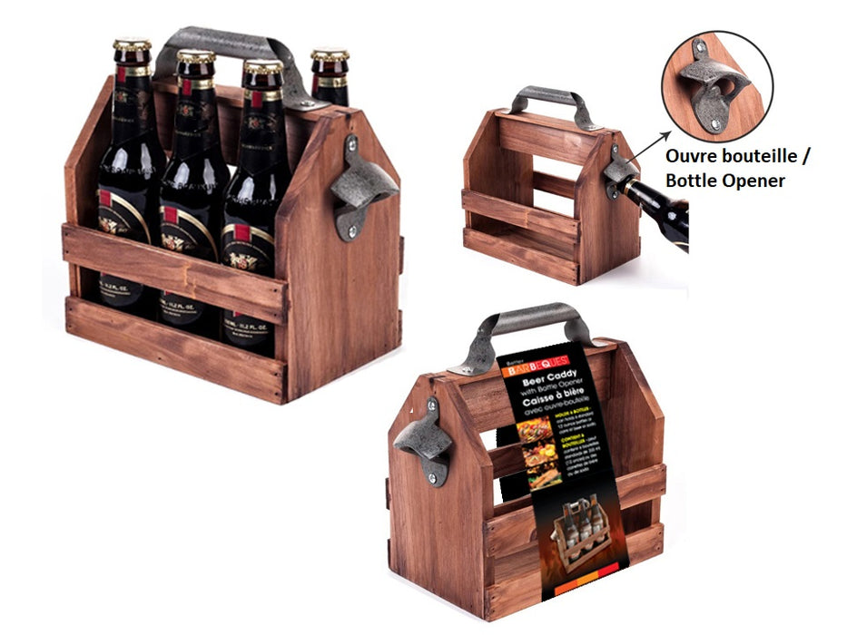 Beers (6-pack) wooden carrying case