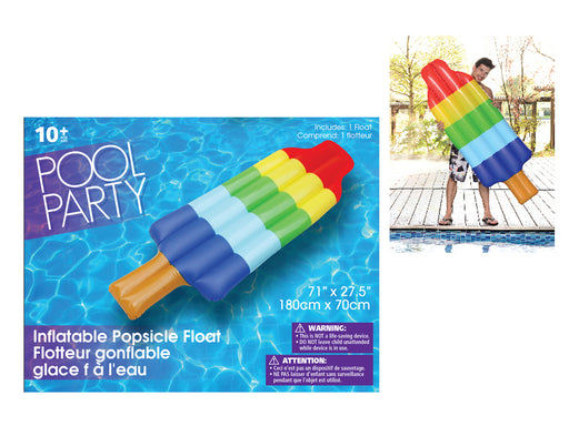 Popsicle shaped inflatable float