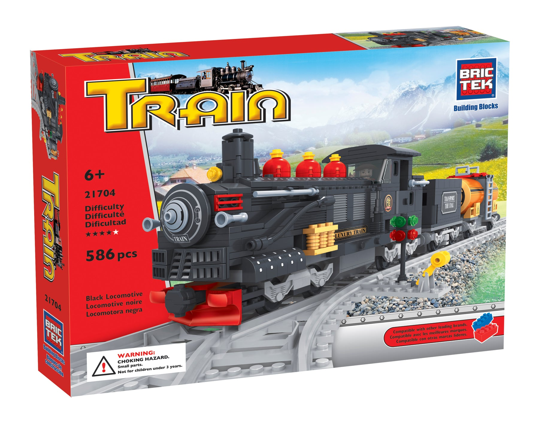 Brictek blocks Train - Locomotive and wagons