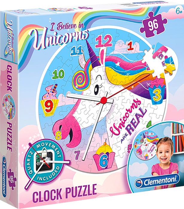 "Children's puzzle ""Clementoni"" - Unicorn clock"