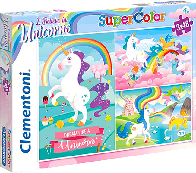 "4 children's puzzle in 1 ""Clementoni"" - Unicorn"