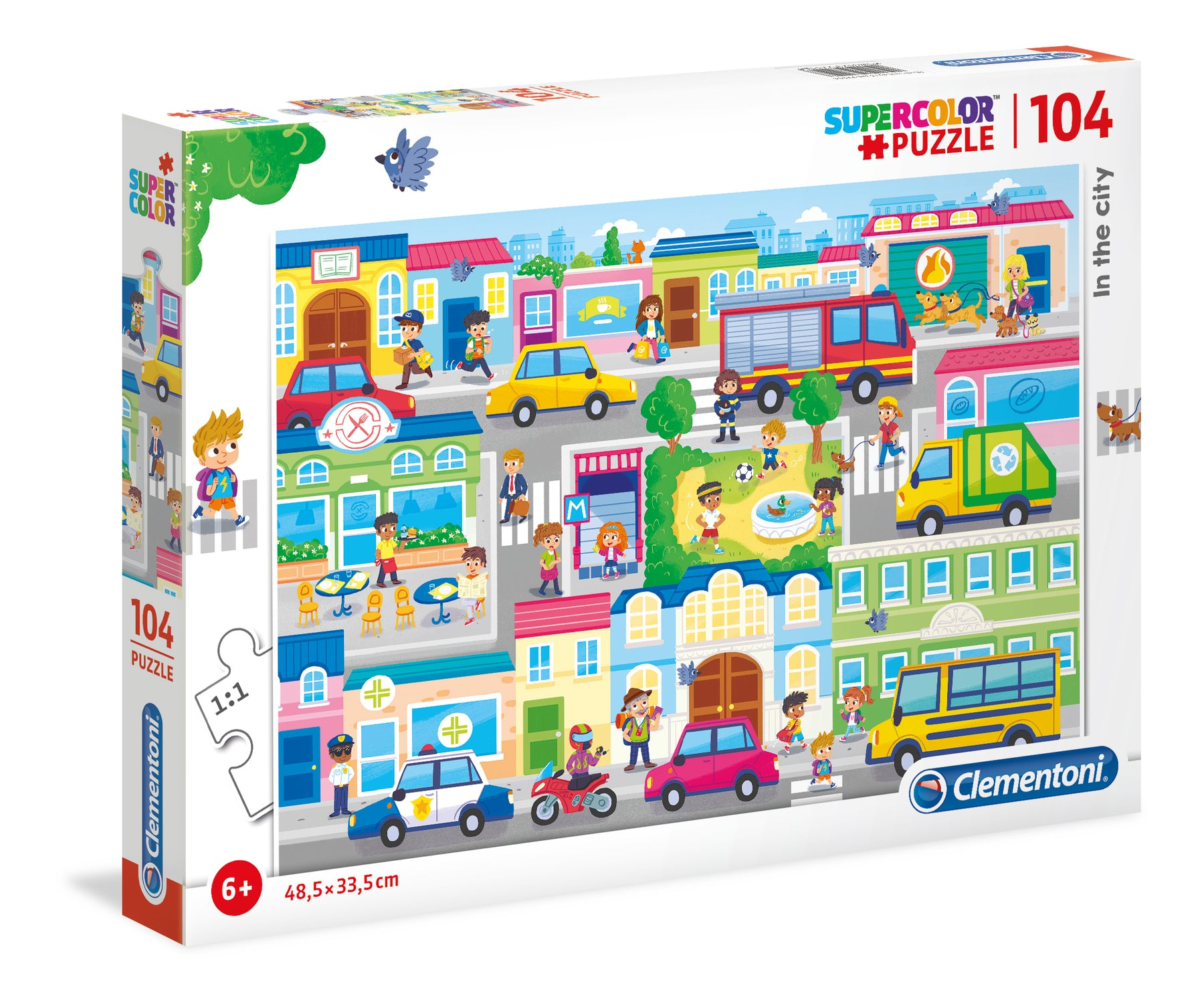 "Children's puzzle ""Clementoni"" - In town"