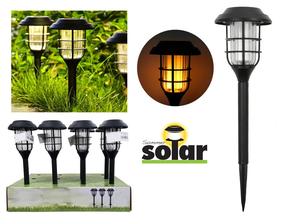 Solar mood lamps imitating a dancing flame (17 '' - 43.2 cm) - 3 units
