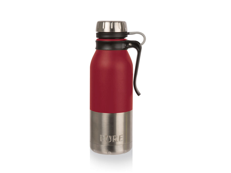 "500 ml insulated ""PURE"" stainless steel bottle - Red"