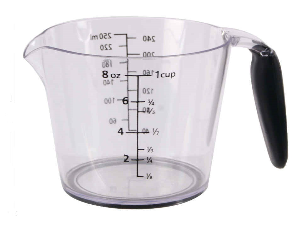 """Luciano Gourmet"" plastic measuring cup"