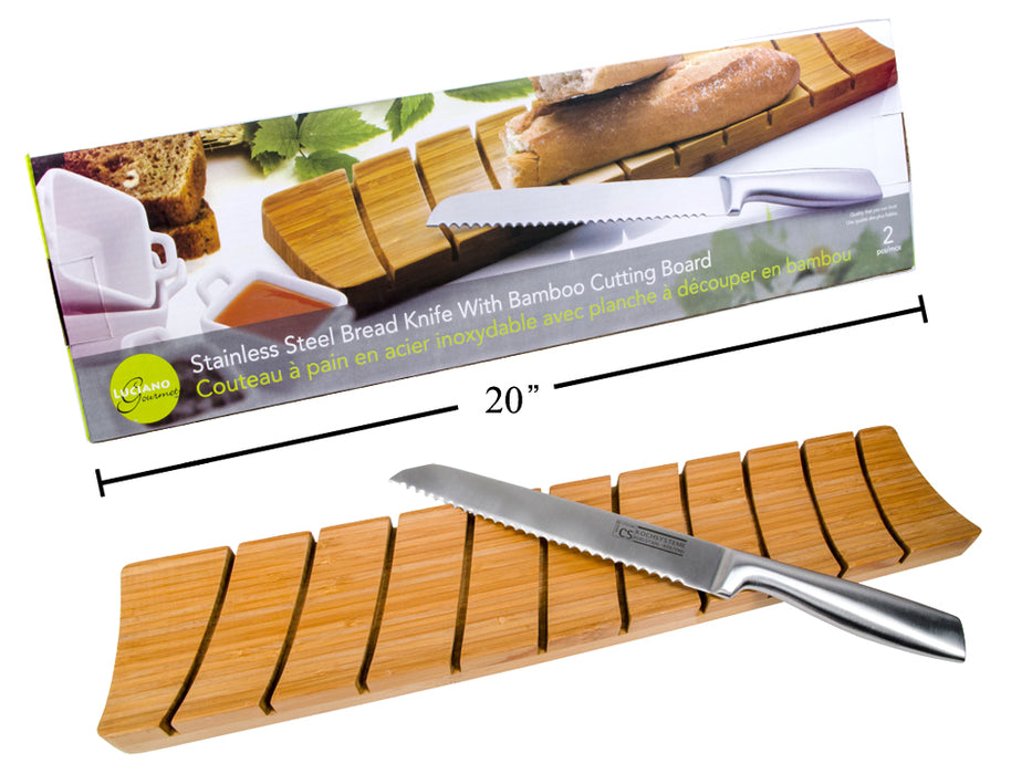 """Luciano Gourmet"" breadboard and knife set"