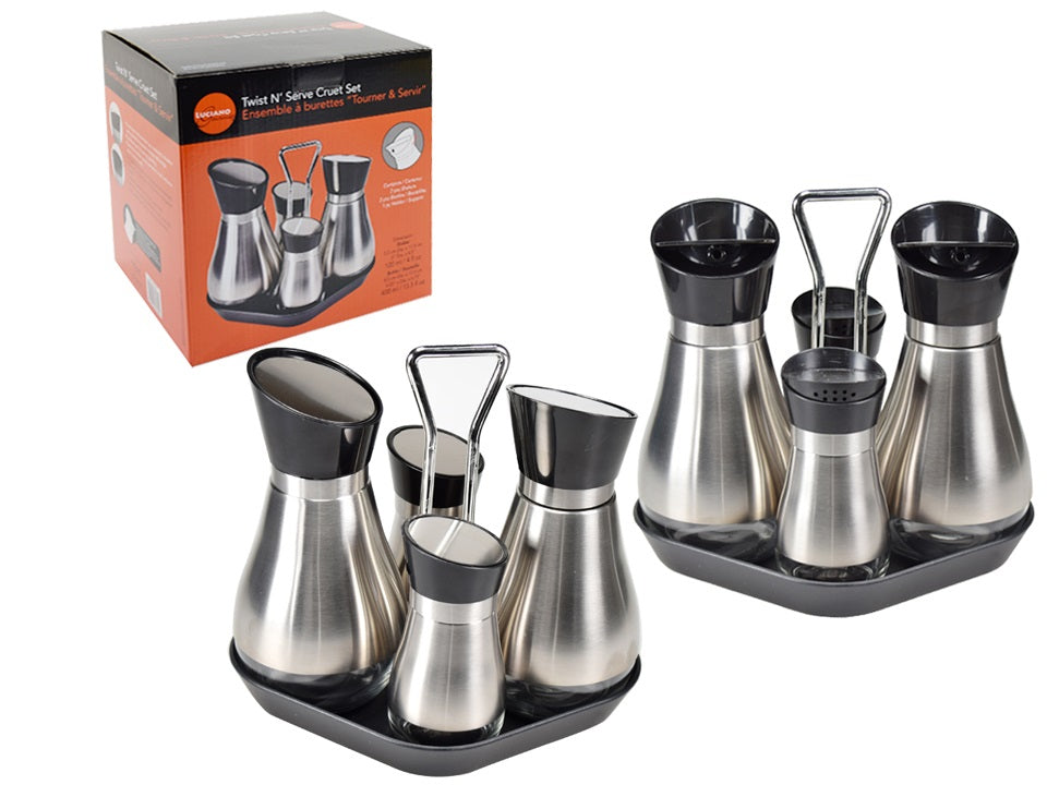 """Luciano Gourmet"" stainless steel tableware set 5."