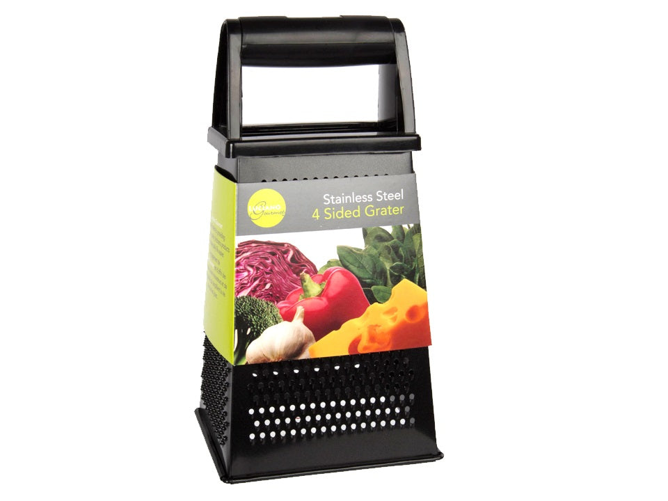 """Luciano Gourmet"" grater in non-stick stainless steel"