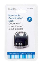"""Global"" combination padlock, specially designed for suitcases"