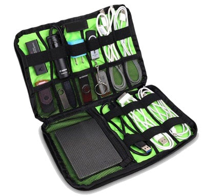 I Focus organizer for mobile electronics accessories