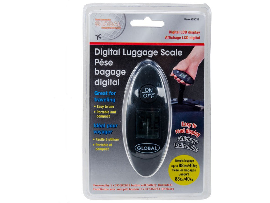 """Global"" luggage scale with LCD digital display"