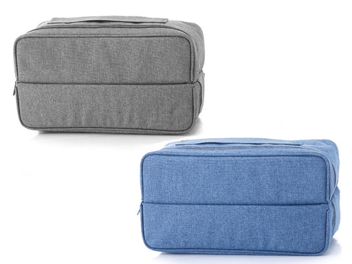 """Global"" large deluxe toiletries case, with central opening."