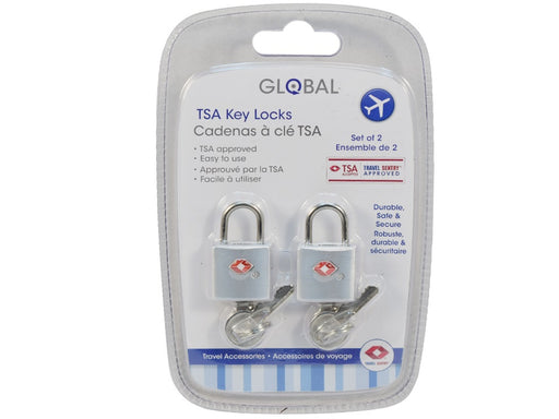 "Set of 2 ""Global"" key padlocks for suitcases"