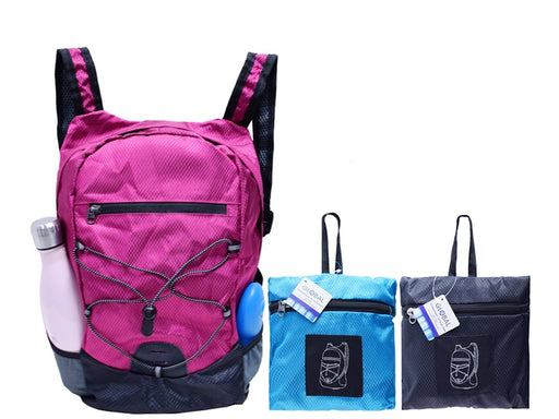 """Global"" sport and outdoor backpack in collapsible nylon"