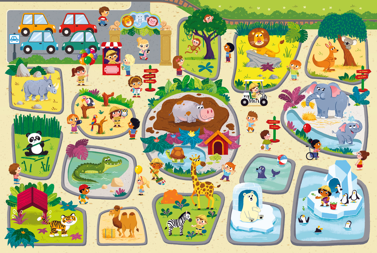 "Children's puzzle ""Trefl"" - visit to the zoo"