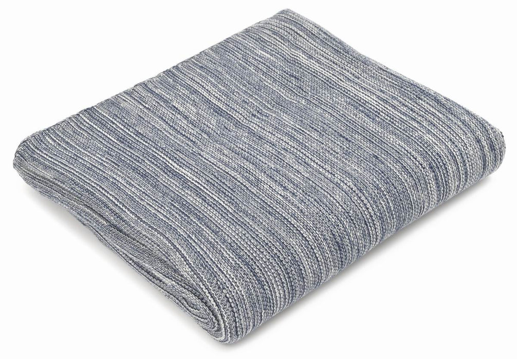 Throw cotton, 100% natural fibers, navy