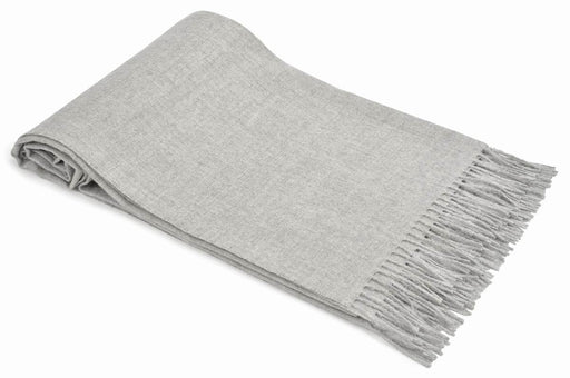 Throw, 100% baby Alpaca, gray