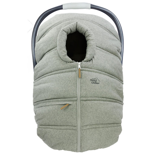 "Winter protective cover for baby car seat ""Petit Coulou"" - Light Gray / Wool"