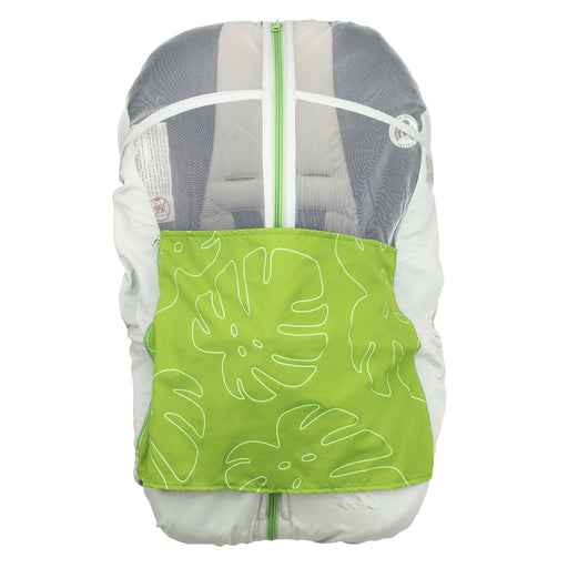 "Summer protective cover for ""Petit Coulou"" baby car seat - Tropical / Gray"
