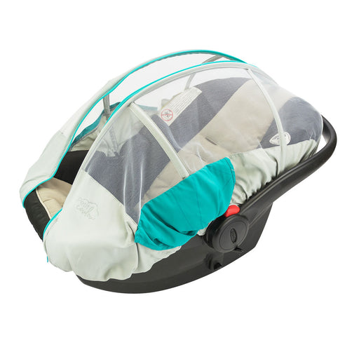 "Summer protective cover for ""Petit Coulou"" baby car seat - Aqua / Gray"