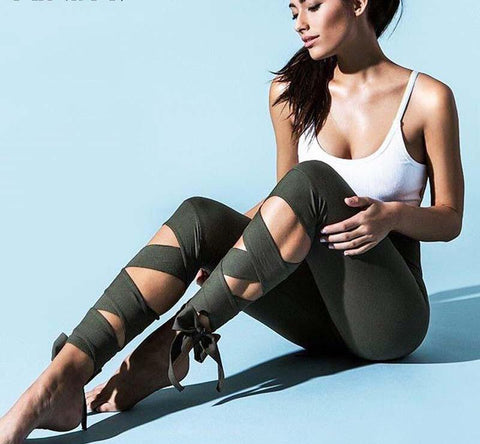 Strappy Leggings For Leisure Or Fitness