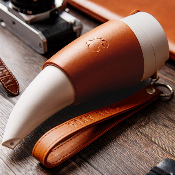 Stainless Steel Goat Horns Vacuum Thermos Flask