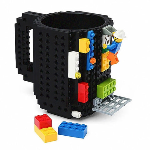 350ml Creative bricks silicone stainless steel Travel Mug
