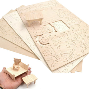 34Pcs 3D Furnitures Puzzle
