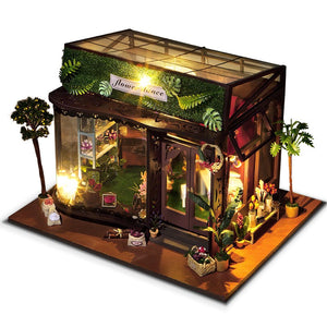 T-Yu TD19 Flower Dance House DIY Dollhouse With Cover Light Best Creative Gift Collection Decor