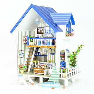 New iiecreate 13018 The Harbour Of Venice DIY Dollhouse With Furniture Light Music Cover Miniature House