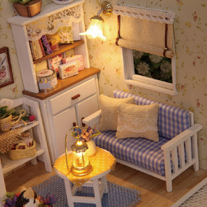 Top Kitten Diary DollHouse Furniture DIY Miniature Dust Cover 3D Wooden Miniaturas Toys Children Birthday Gifts